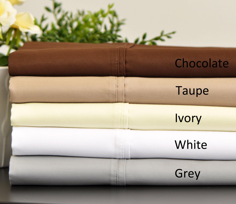 Aspire Linens 800 Thread Count Cotton Rich Sheet Set with Bonus Pillowcases (6-piece Set) - Grey at Sears.com