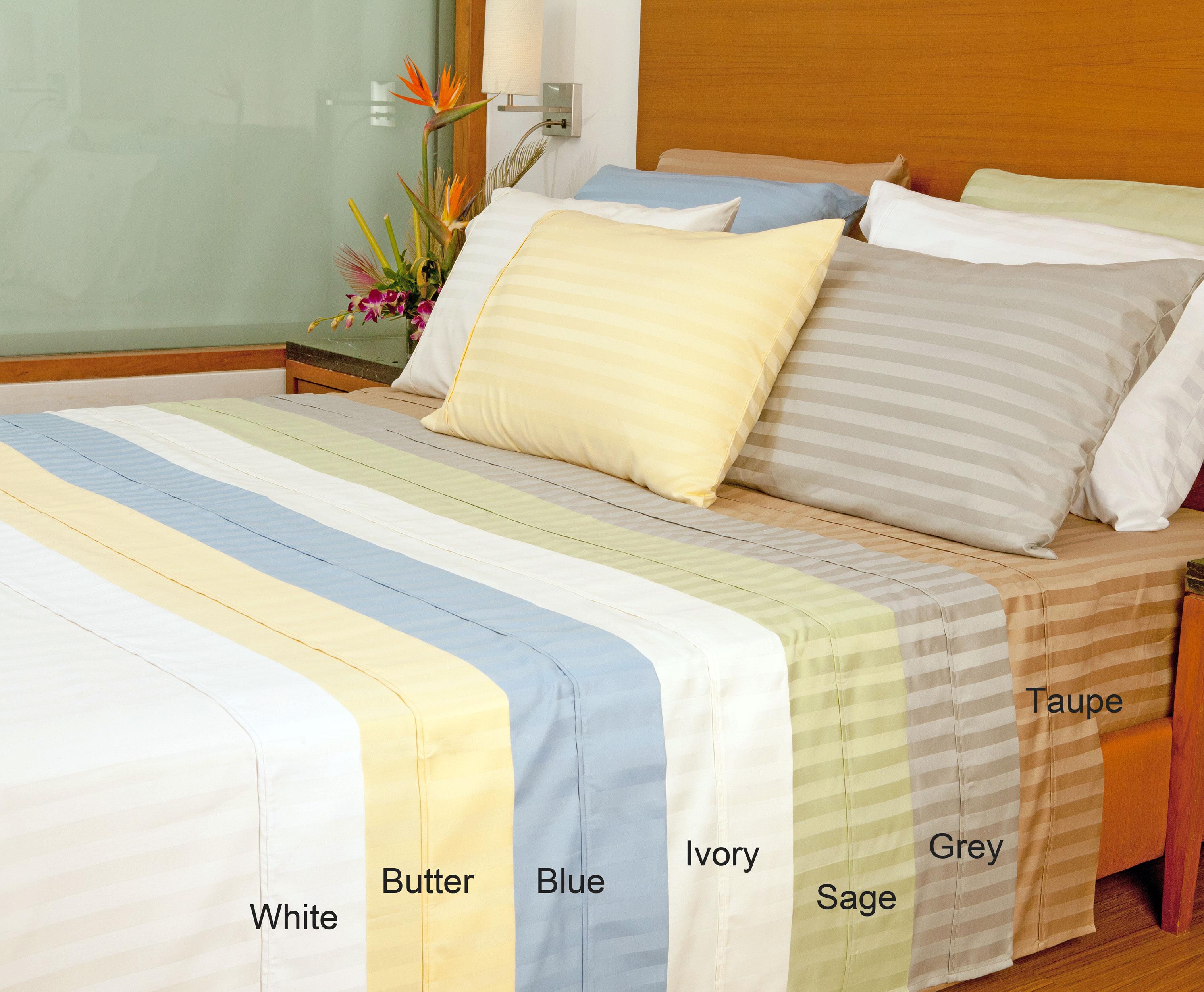 Aspire Linens Striped 1000 Thread Count Easy Care Sheet Set with Bonus Pillowcases (6-piece Set) - Sage at Sears.com